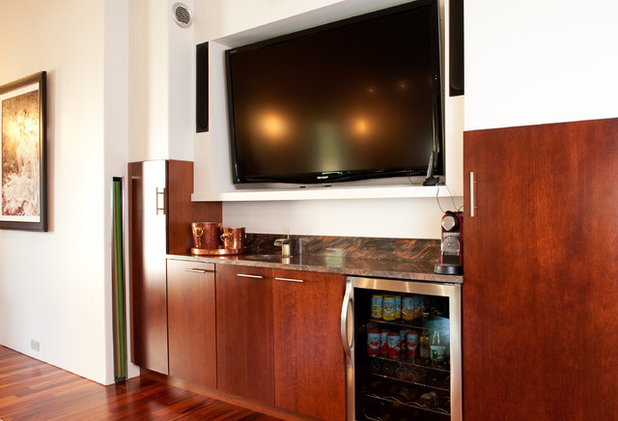 Contemporary Home Theater by Mary Prince Photography