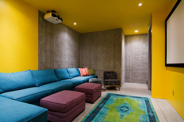 Contemporary Home Theater by Lucy Call