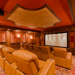 traditional media room by RAHokanson Photography