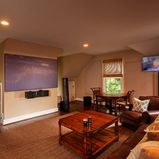 Traditional Home Theater by Moore Audio Design