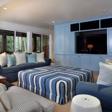Eclectic Home Theater by Karen White Interior Design