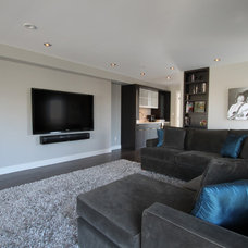 Contemporary Home Theater by Aloft Designs - Ottawa, ON