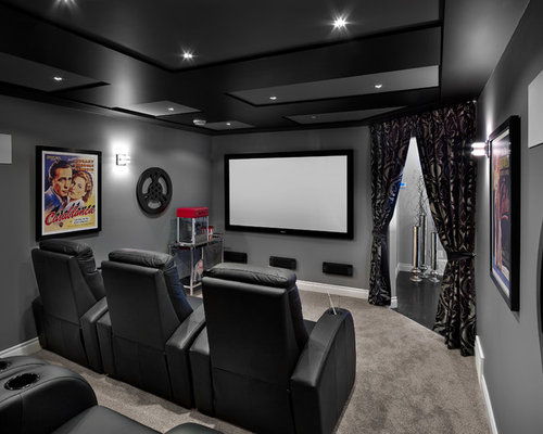 Home theater paint color home design ideas renovations photos - Best paint color for home theater ...