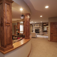 traditional media room by DEICHMAN CONSTRUCTION