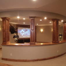 Traditional Home Theater by DEICHMAN CONSTRUCTION