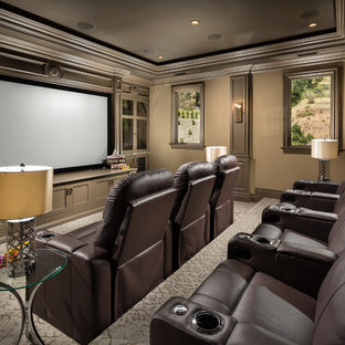 75 Beautiful Home Theater Pictures & Ideas   Houzz