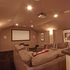 Traditional Home Theater by Newmark Homes