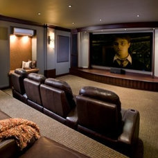 Traditional Home Theater by Bruce Kading Interior Design