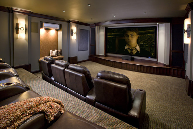 Traditional Home Theater by Bob Michels Construction, Inc.