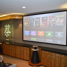 Asian Home Theater by Michael Breinholt Cabinetry