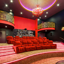 Cinema rooms that would be perfect for our 3D walls