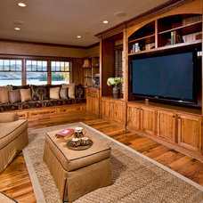 Traditional Home Theater by Phinney Design Group