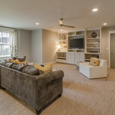 Transitional Home Theater by Marilyn Kimberly, Interior Designer