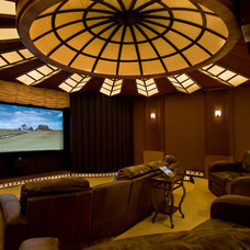 Contemporary Home Theater by Donny Hackett Design