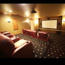 Traditional Home Theater by Barenz Builders