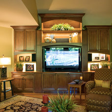 Traditional Home Theater by Kitchens for Cooks/ Residential Design Services