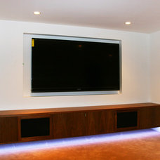 Traditional Home Theater by Odenza Homes Ltd