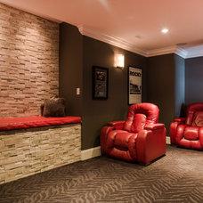 Contemporary Home Theater by Sunterra Custom Homes