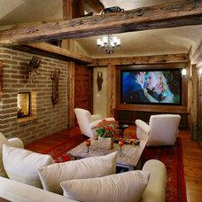 Southwestern Home Theater by Maienza - Wilson Interior Design + Architecture