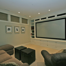 Traditional Home Theater by Tandem Architecture & Construction