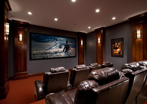 Traditional Home Theater by Jackson and LeRoy