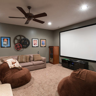 Old World Basement Theater Room