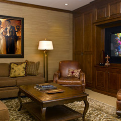 traditional media room by Eminent Interior Design