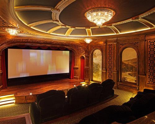 Rustic Home Theater Design Ideas Remodel & Decor