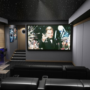 75 Beautiful Modern Home Theater Pictures Ideas September 2020 Houzz