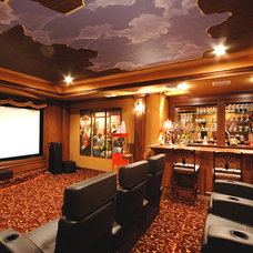 Eclectic Home Theater by Billiard Factory
