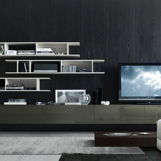 Contemporary Home Theater by Jesse Chicago