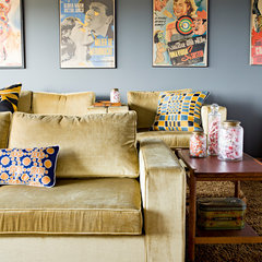contemporary media room by Jessica Helgerson Interior Design