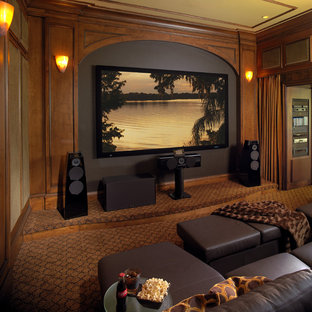 Inspiration for a timeless home theater remodel in Miami
