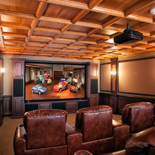 Elegant home theater photo in Other
