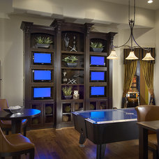 Traditional Home Theater by Ownby Design