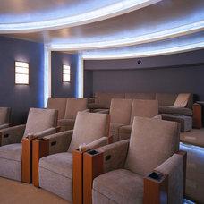 Contemporary Home Theater by VIA – San Francisco