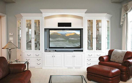 Traditional Home Theater by TL King Cabinetmakers