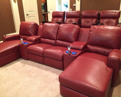 palliser san francisco media sectional with stereo chairs
