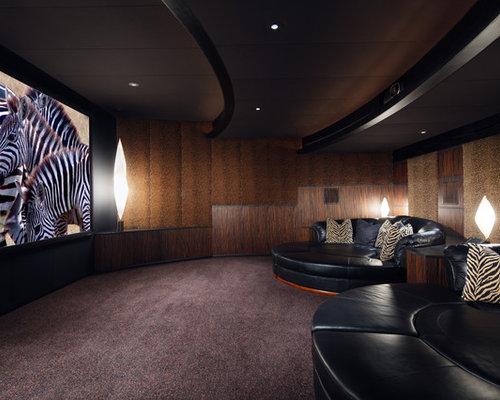 salle de cin ma photos et id es d co de salles de cin ma. Black Bedroom Furniture Sets. Home Design Ideas