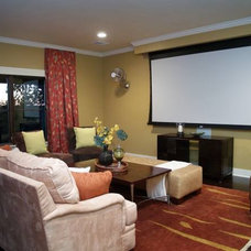 Modern Home Theater by Stonewood Homes, Ltd.
