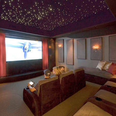 Traditional Home Theater by ModaScapes Interior Design