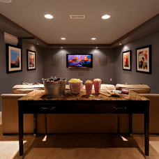 Contemporary Home Theater by Kristin Drohan Collection and Interior Design