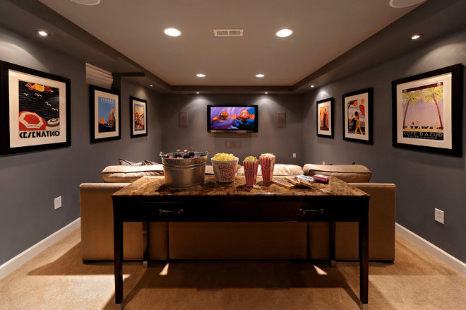 Media room for Kristin drohan interior design