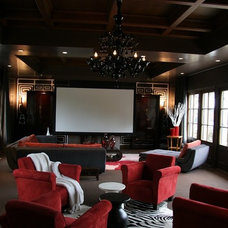 Contemporary Home Theater by JTID INC