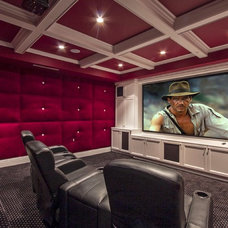 Contemporary Home Theater by | MARSHALL DESIGN GROUP |