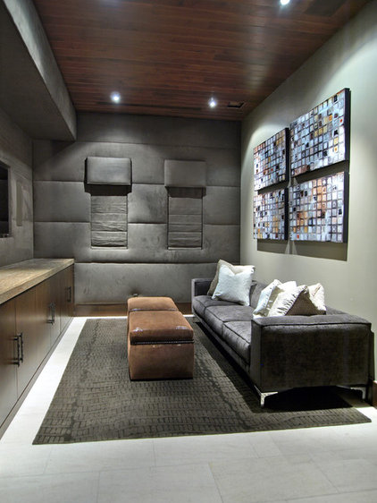 Contemporary Home Theater by RIVER NORTH