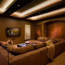 Contemporary Home Theater by Michelle Pheasant Design, Inc.