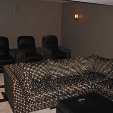 Modern Home Theater by Scott's Creative Home