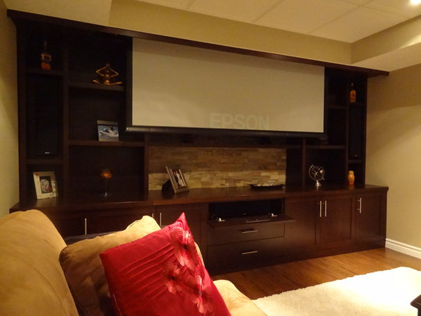 Home Theater by JWS Woodworking and Design Inc.