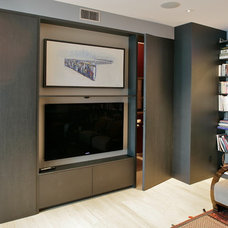 Modern Home Theater by Lotus woodworks